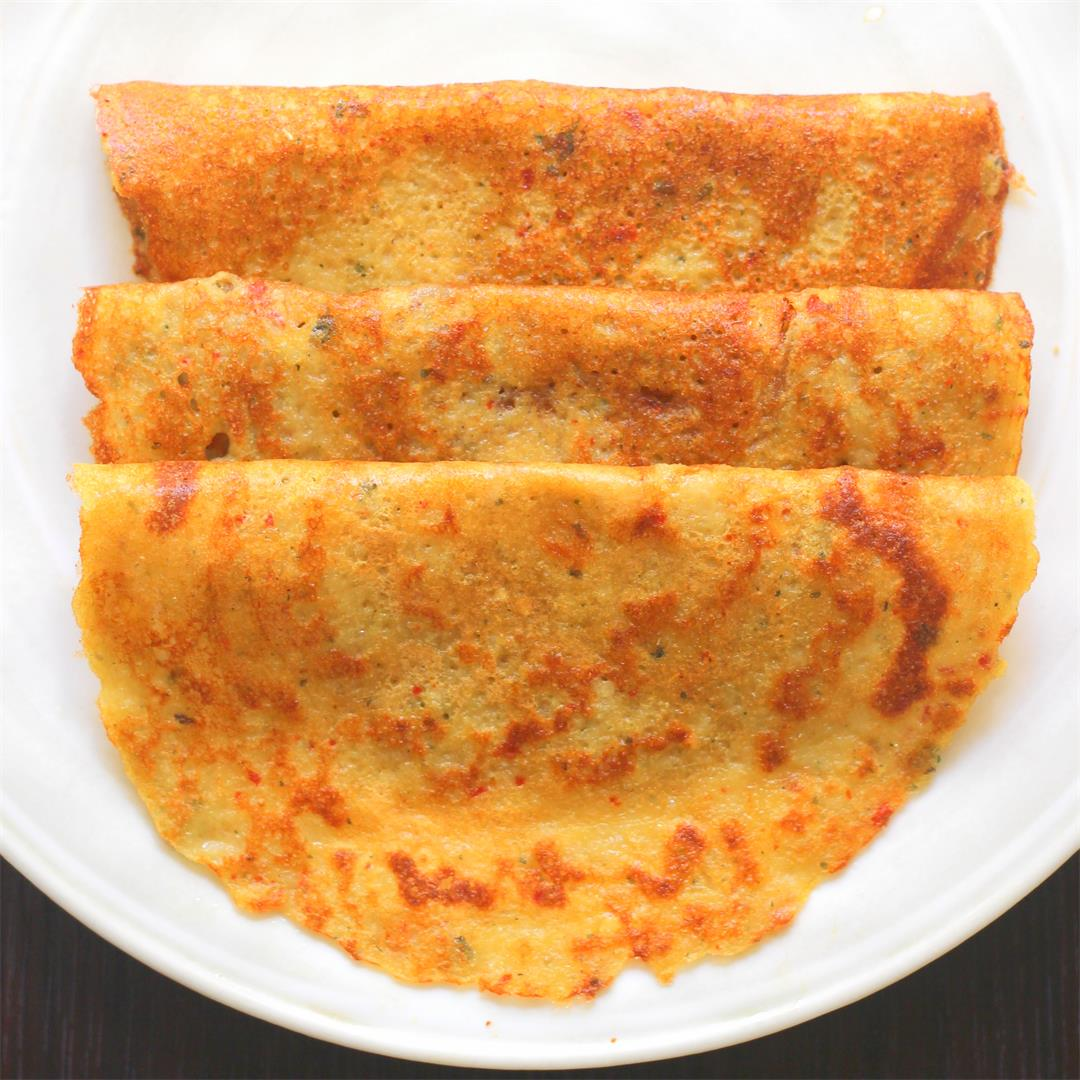 Mixed Lentil Dosa / Crepes - A healthy breakfast Recipe