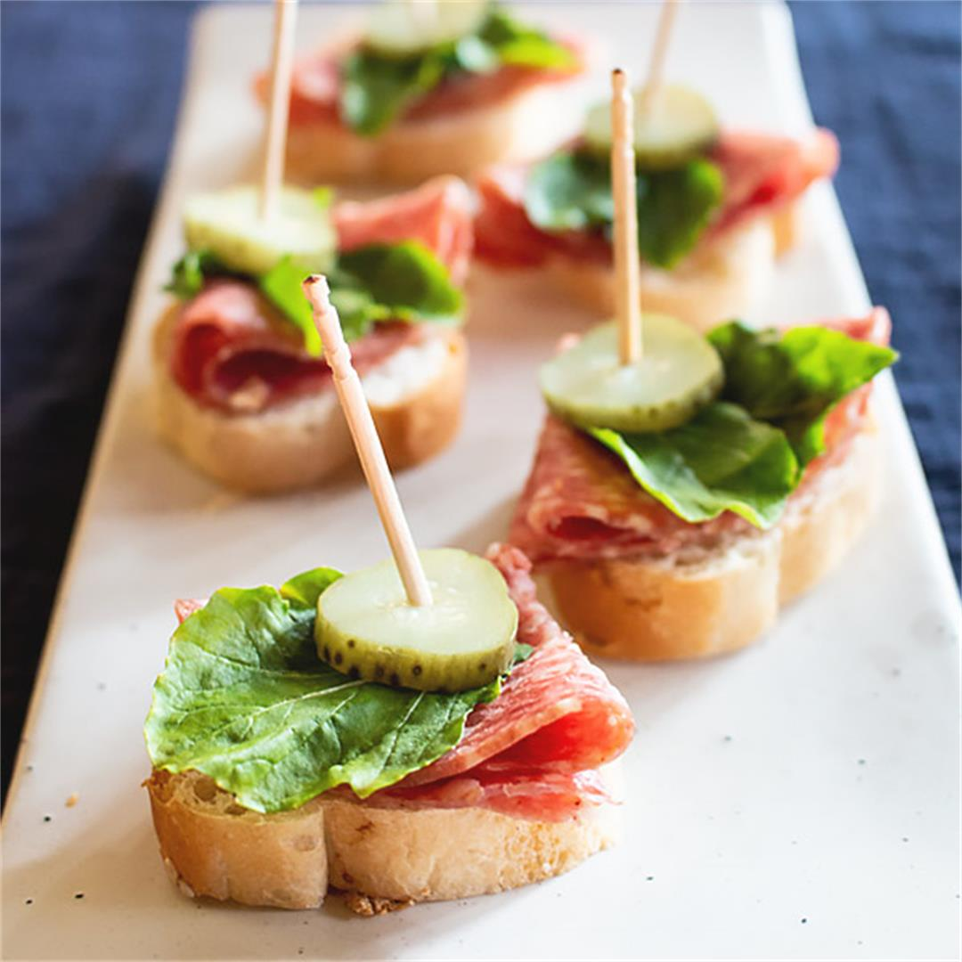Easy and quick salami appetizer that just simple and delicious