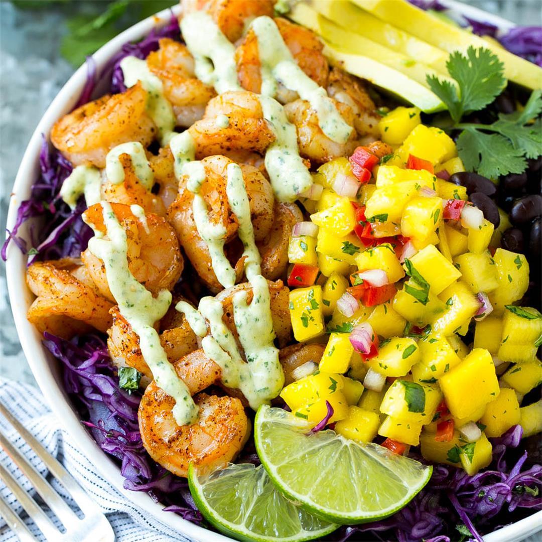 Shrimp Taco Bowls made Naturally Gluten Free