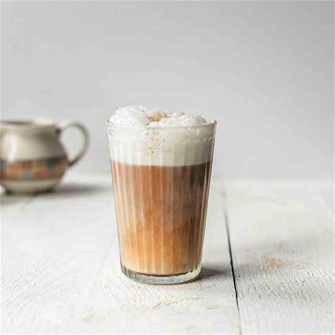 Vegan latte macchiato coffee
