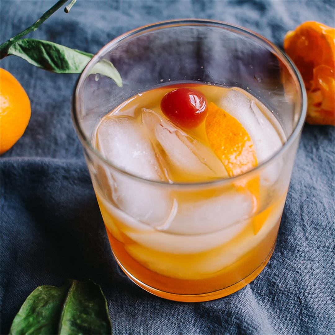 Low Carb Tangerine Old Fashioned