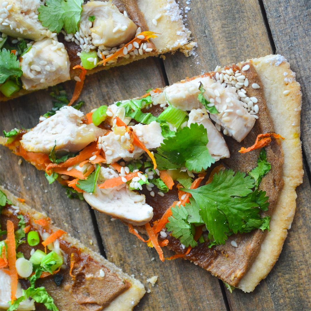 Thai Chicken Pizza - Paleo, Gluten-free, Dairy-free