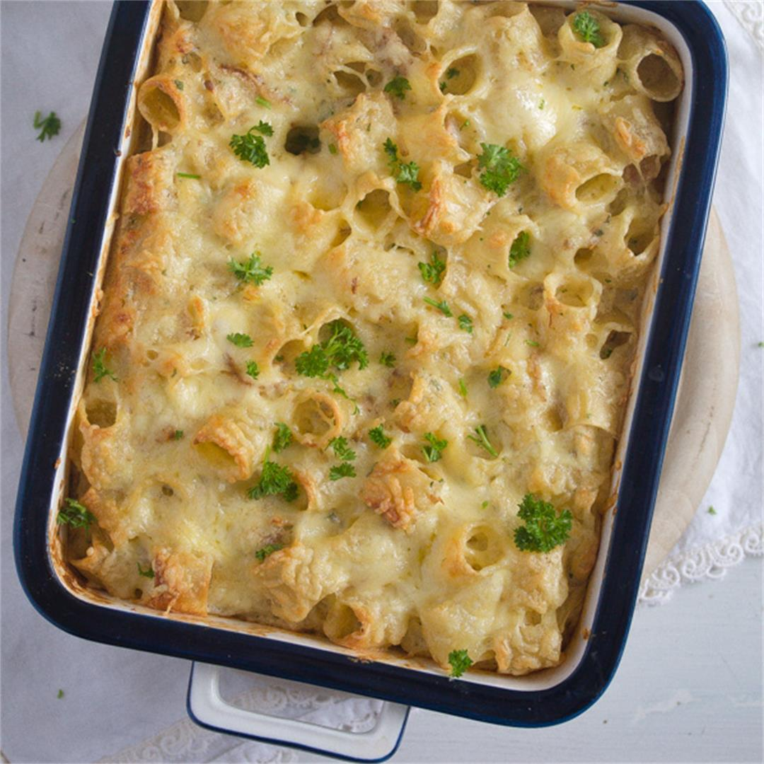 Leftover Turkey Noodle Casserole Recipe – With White Sauce