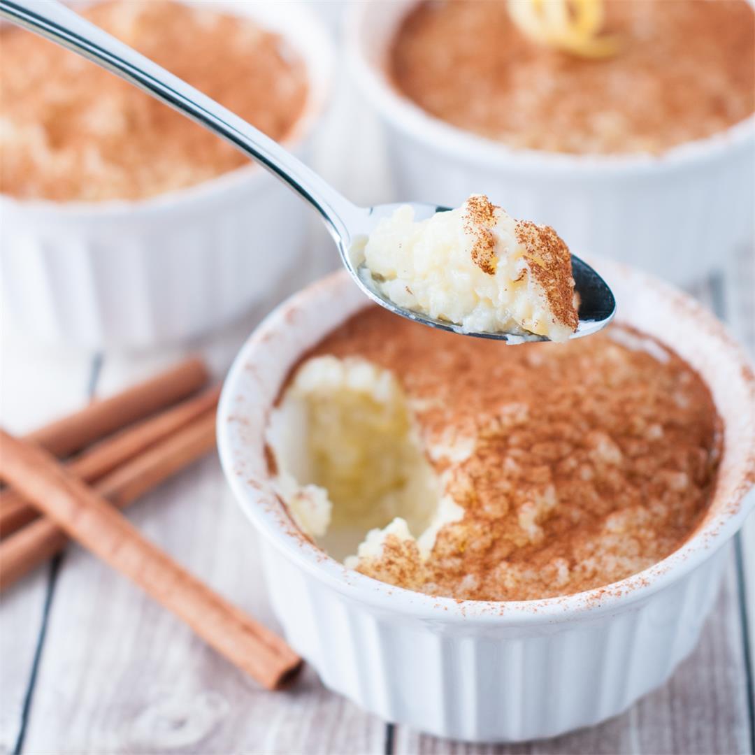 Portuguese Rice Pudding (arroz doce)