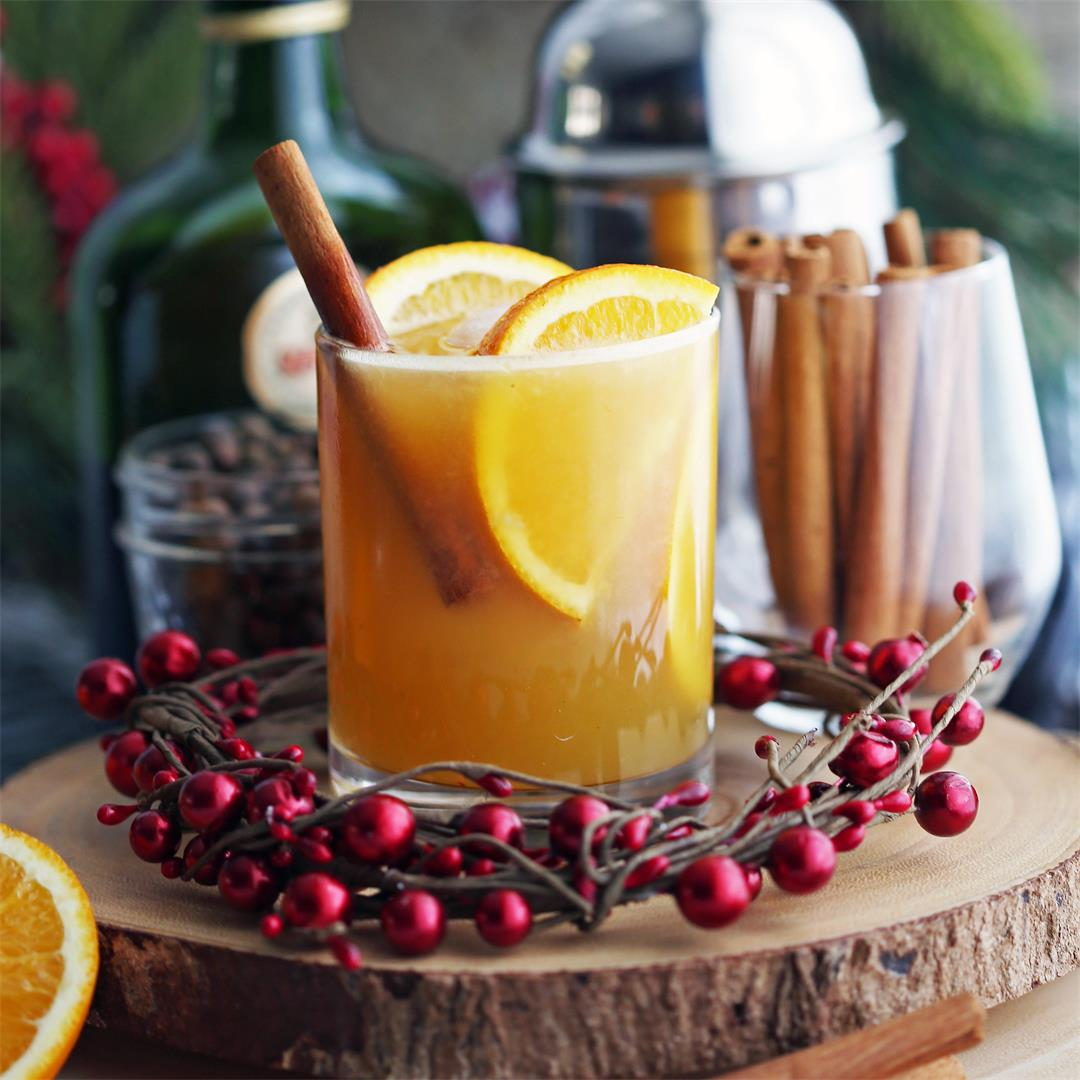 Spiced Orange Brandy Spritzers
