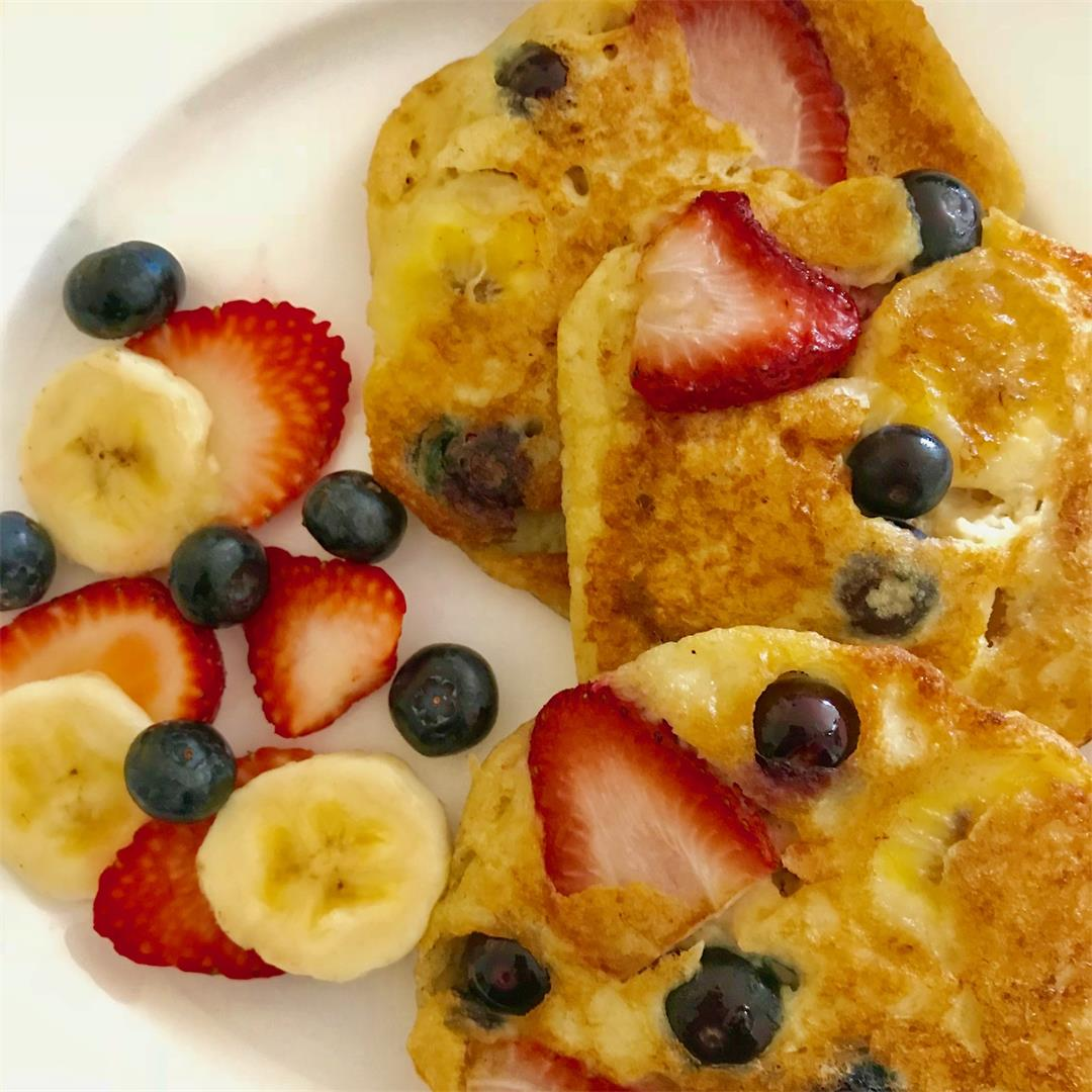 Healthy Oat Yoghurt Pancakes