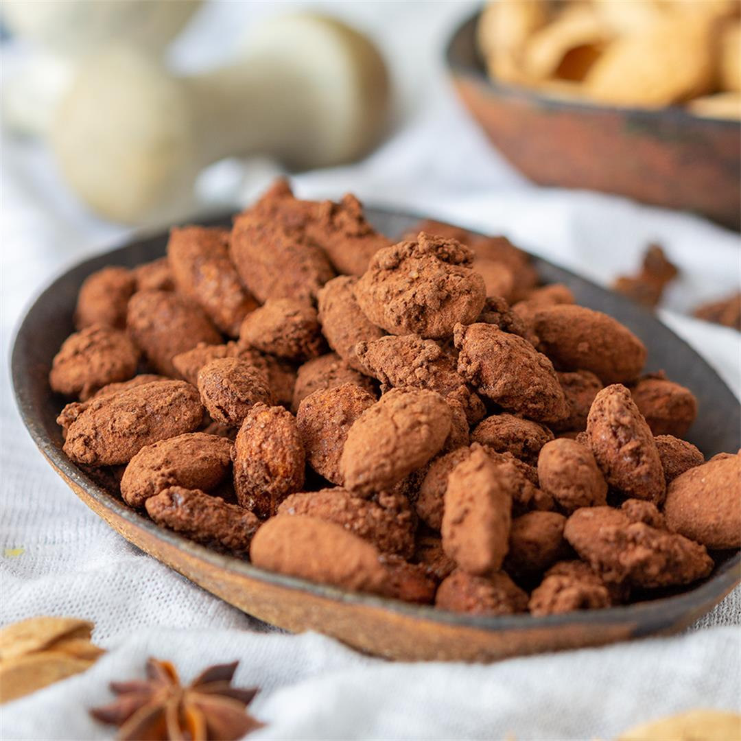 Spiced Cocoa Roasted Almonds