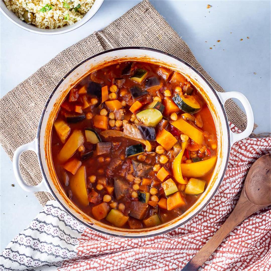 Vegetable Tagine with Chickpeas