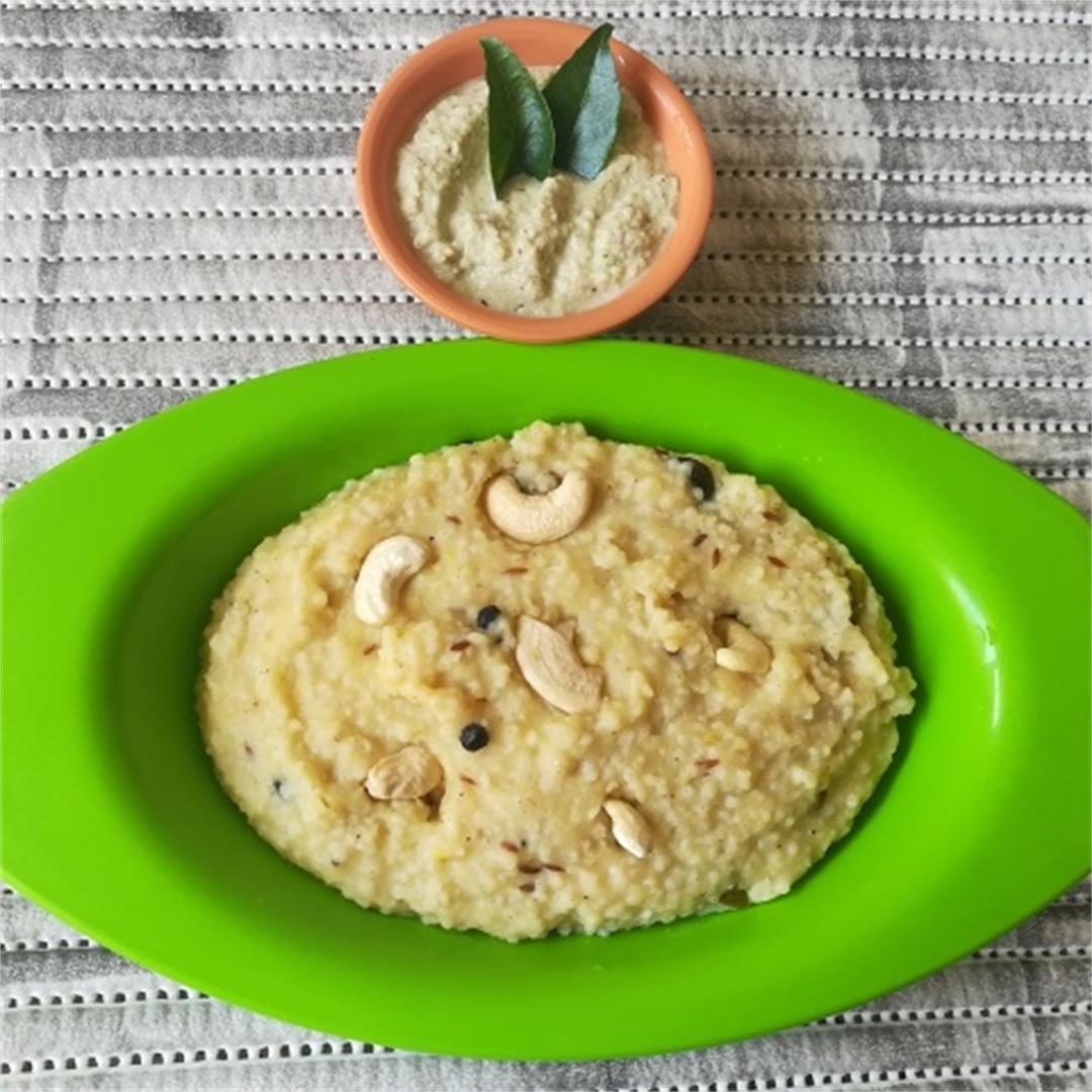 Varagu Arisi Ven Pongal - Famous Indian Recipes