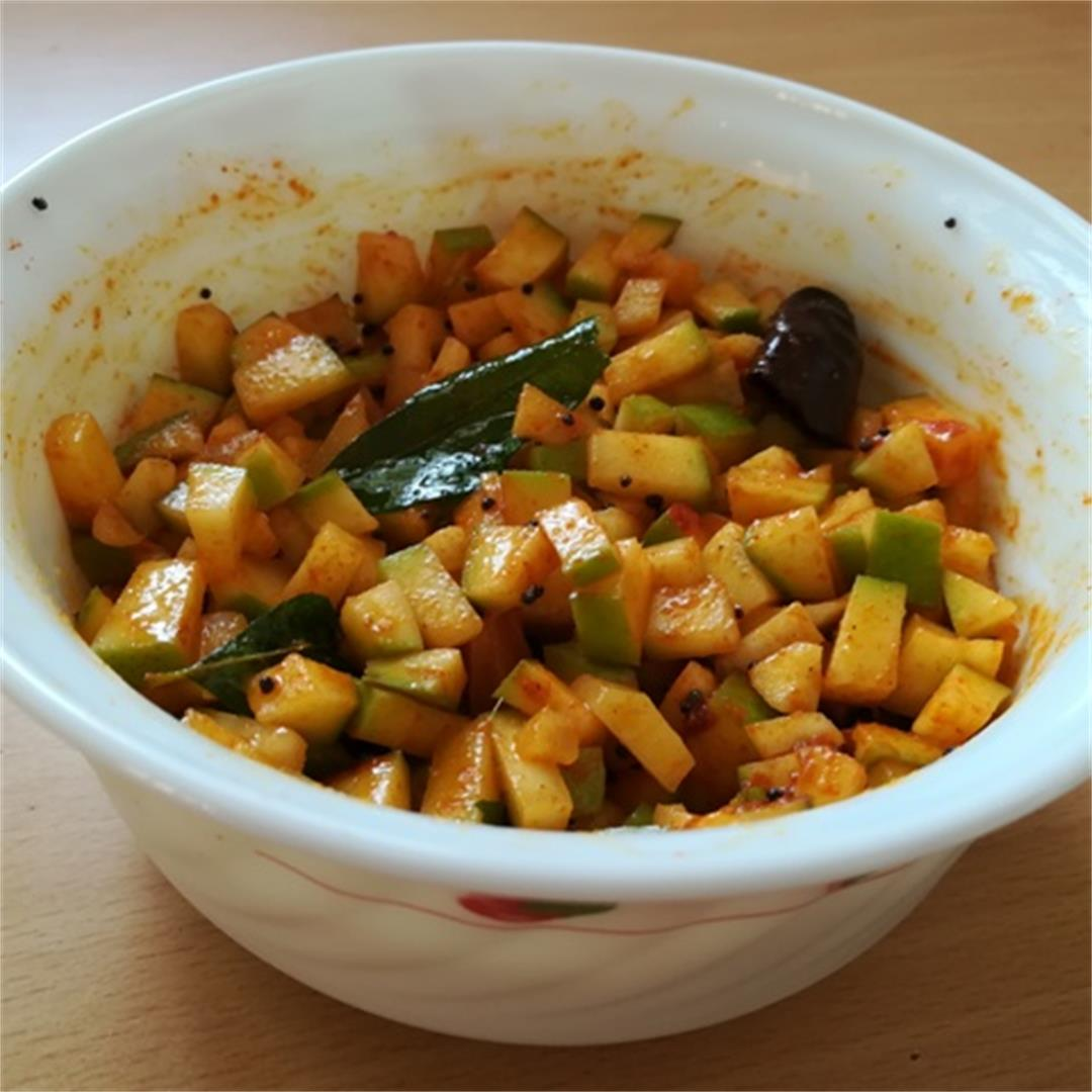 Instant Mango Pickle recipe - Famous Indian Recipes