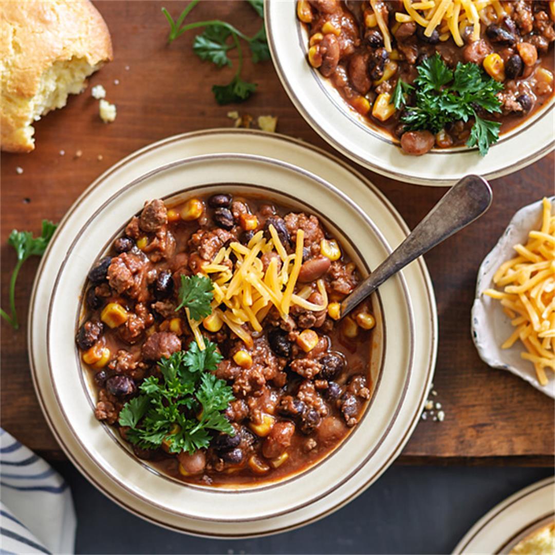 Two-Bean Chili Con Carne Recipe