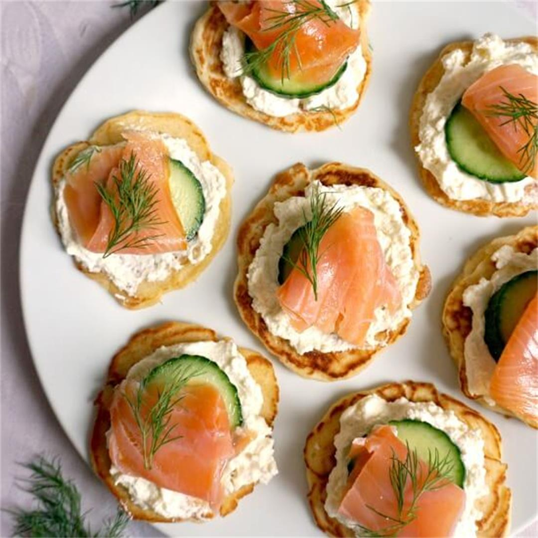 Smoked Salmon Blini Canapes