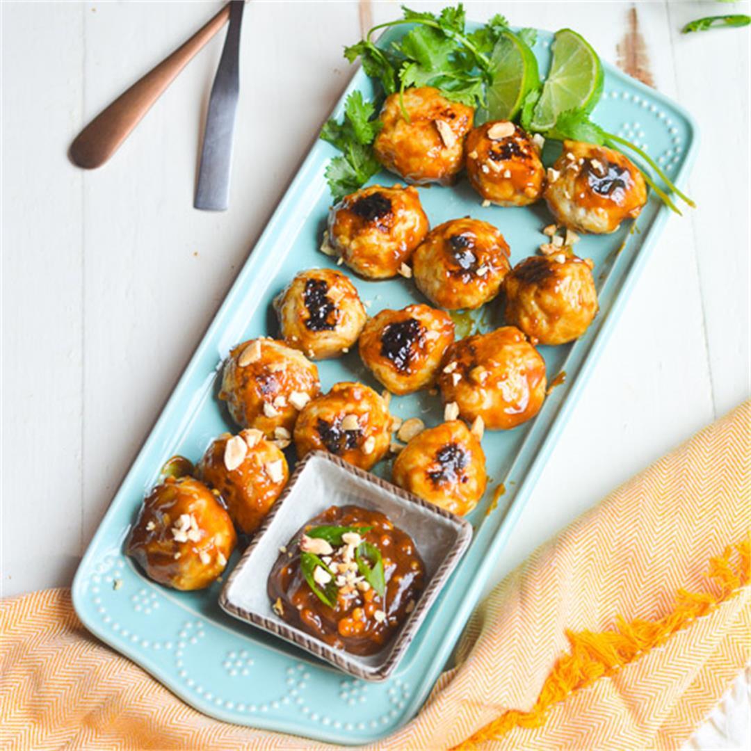 Chicken Satay Meatballs