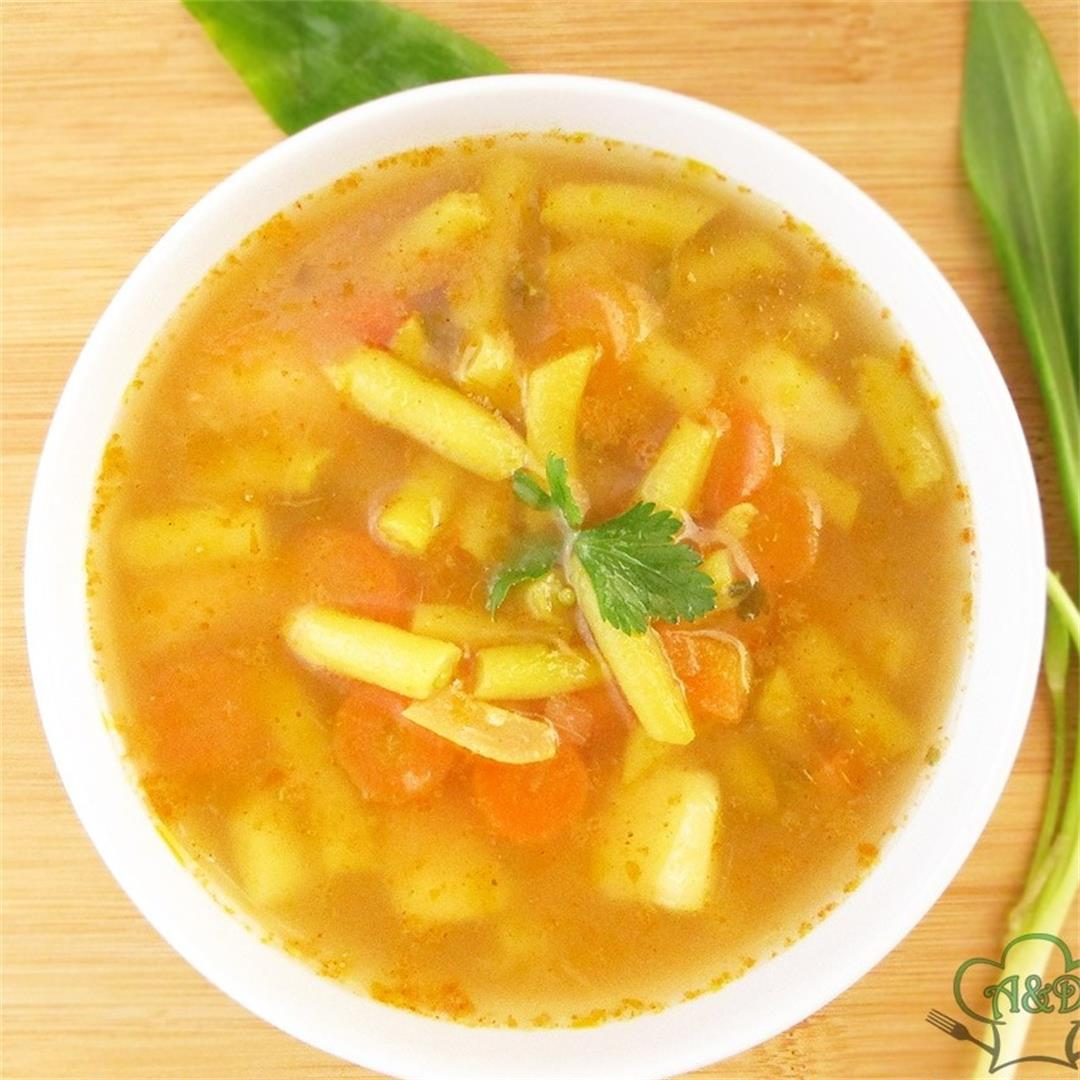 Delicious Vegan Wax Beans Soup