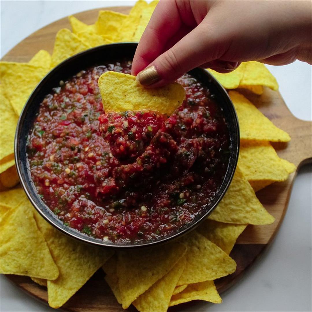 Quick and easy tomato salsa