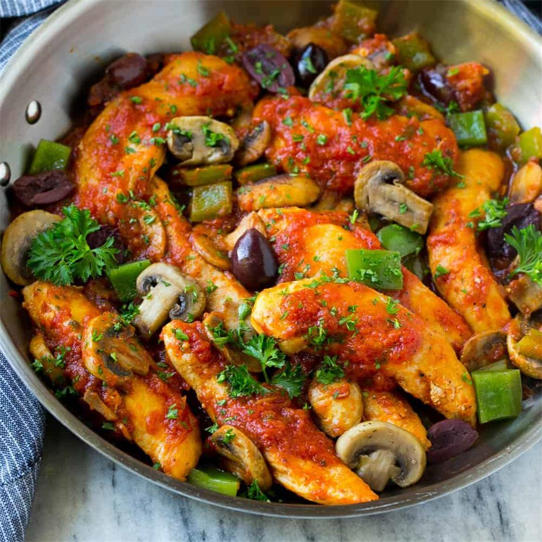 Easy Chicken Cacciatore - Low Carb and Gluten Free