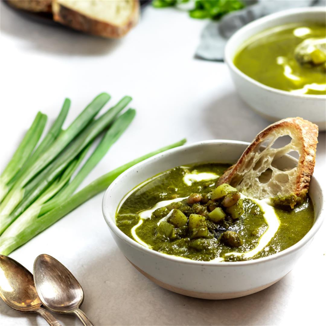 Winter Green Goddess Soup