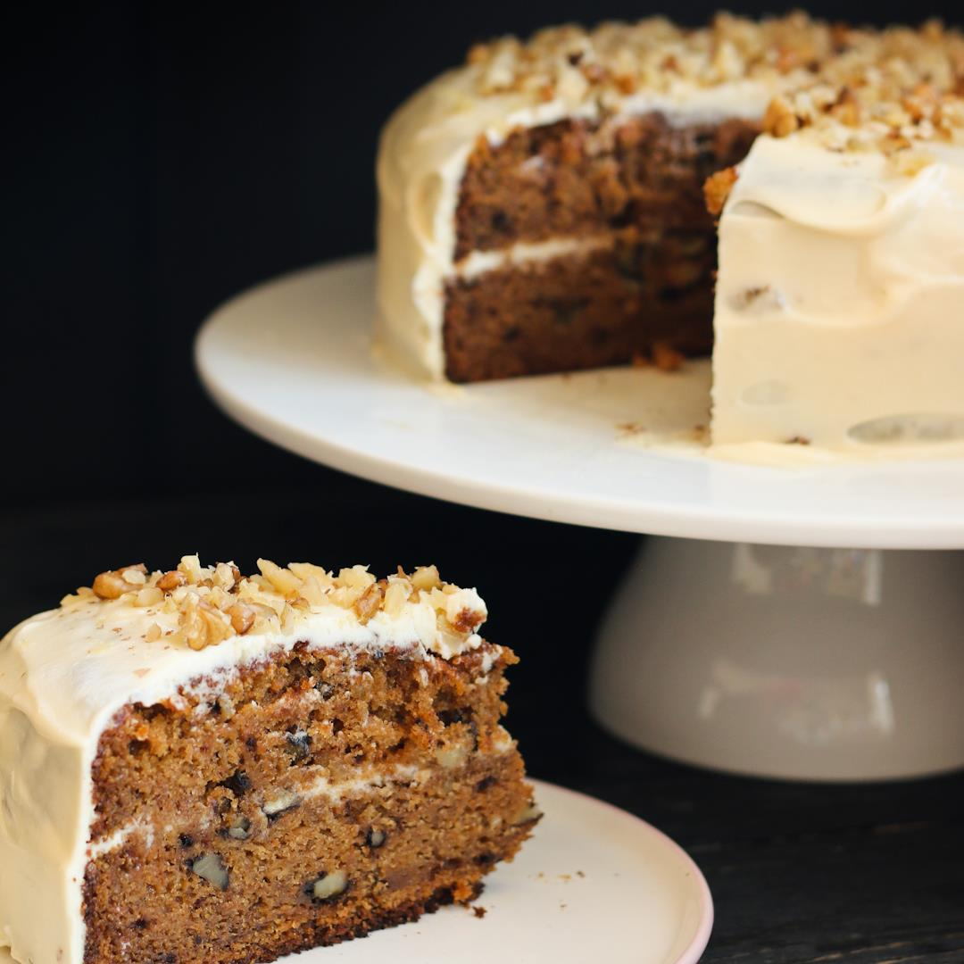 The Best Carrot Cake recipe made with 100% wholewheat flour.