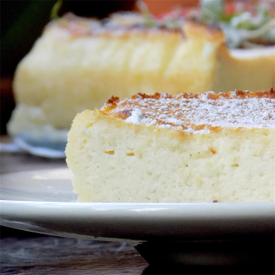 The Ricotta Cake is a soft and tasty cake with a blood orange
