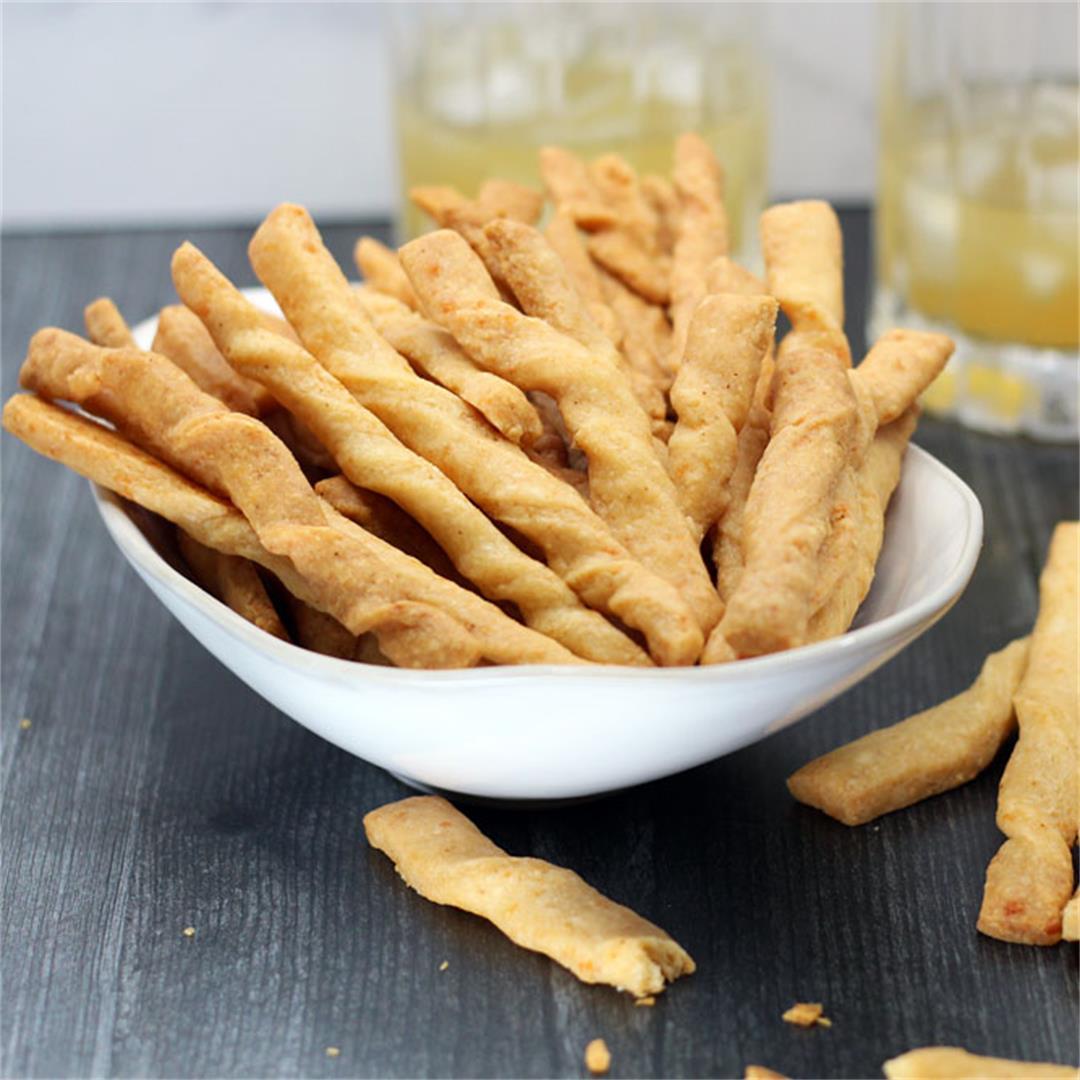Gouda Cheddar Cheese Straws