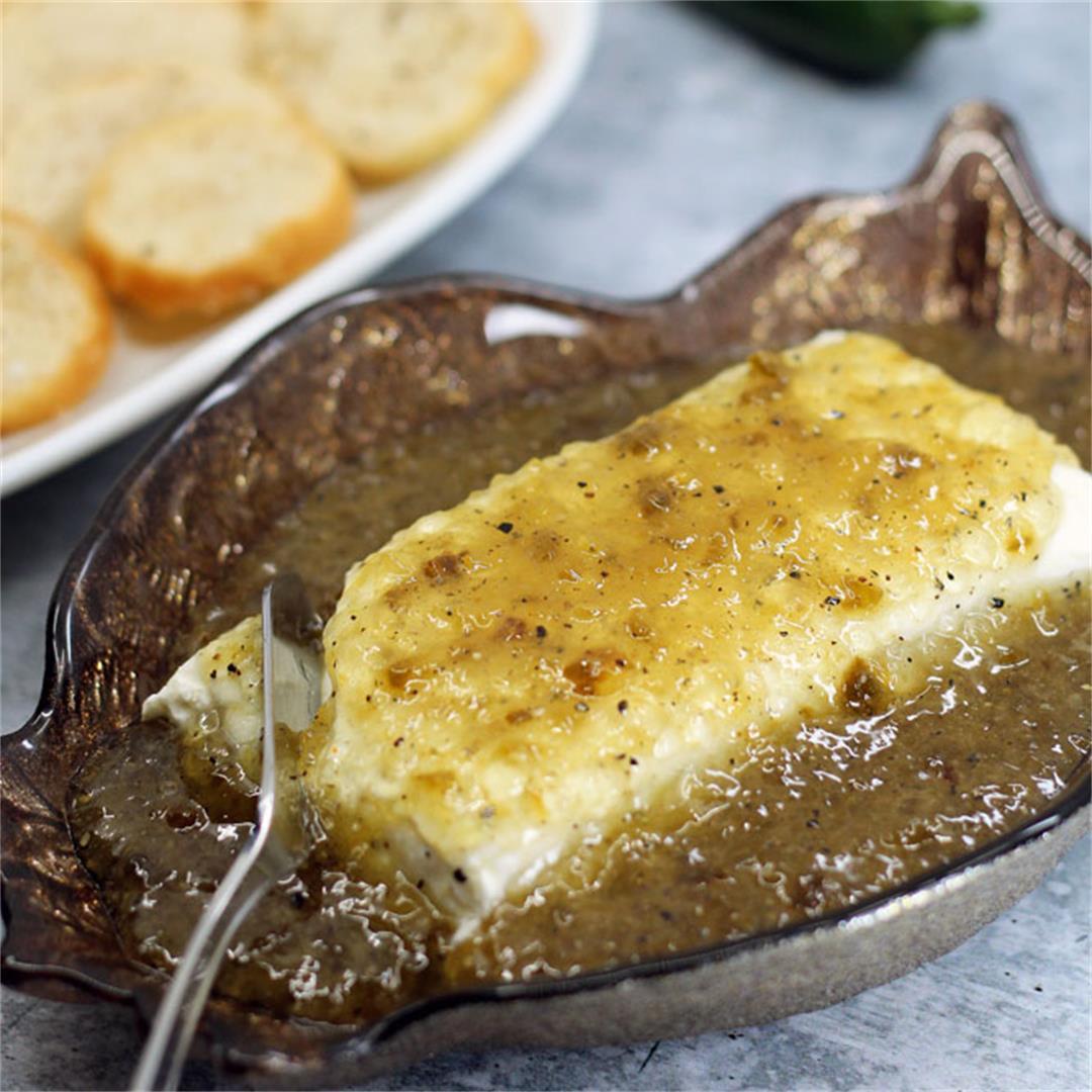 Jalapeno Jezebel Sauce with Cream Cheese