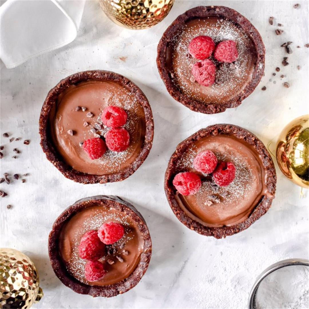 Gluten Free Vegan Chocolate Tarts