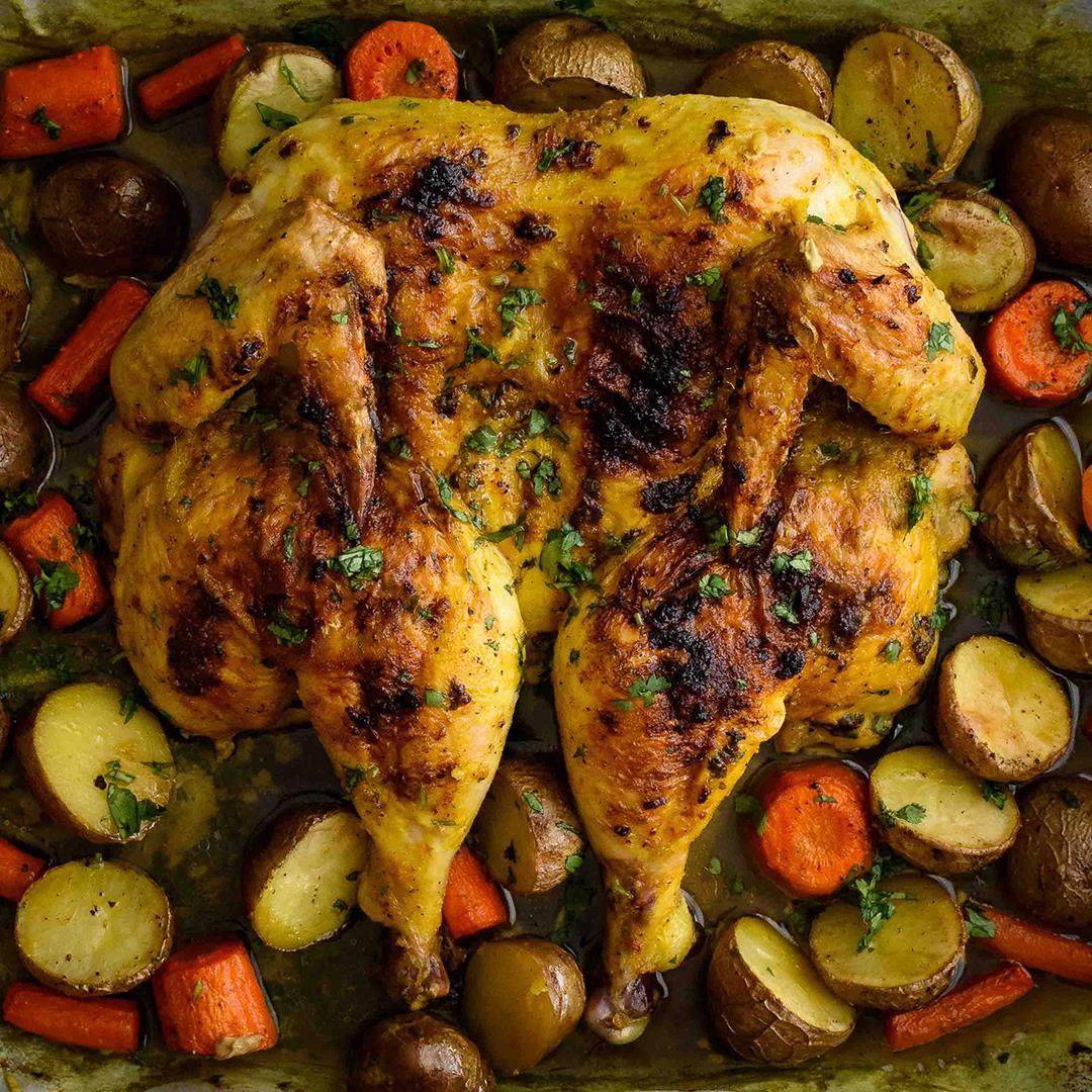Turmeric Spatchcock Chicken