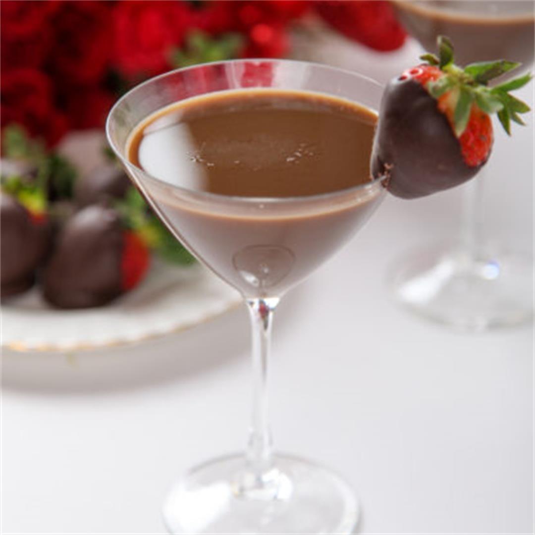 Chocolate Covered Strawbrry Martini