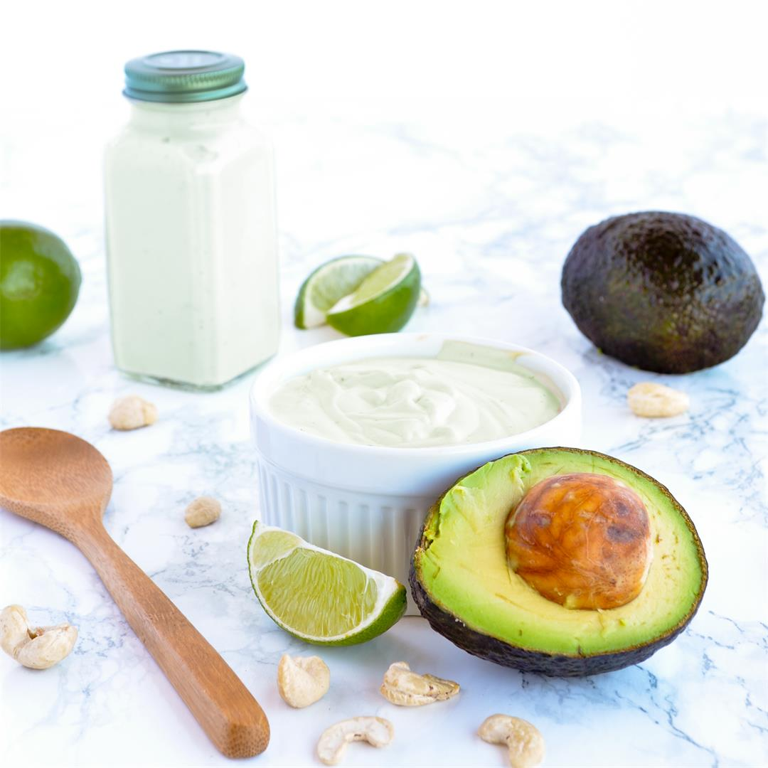 Cashew Avocado Lime Crema