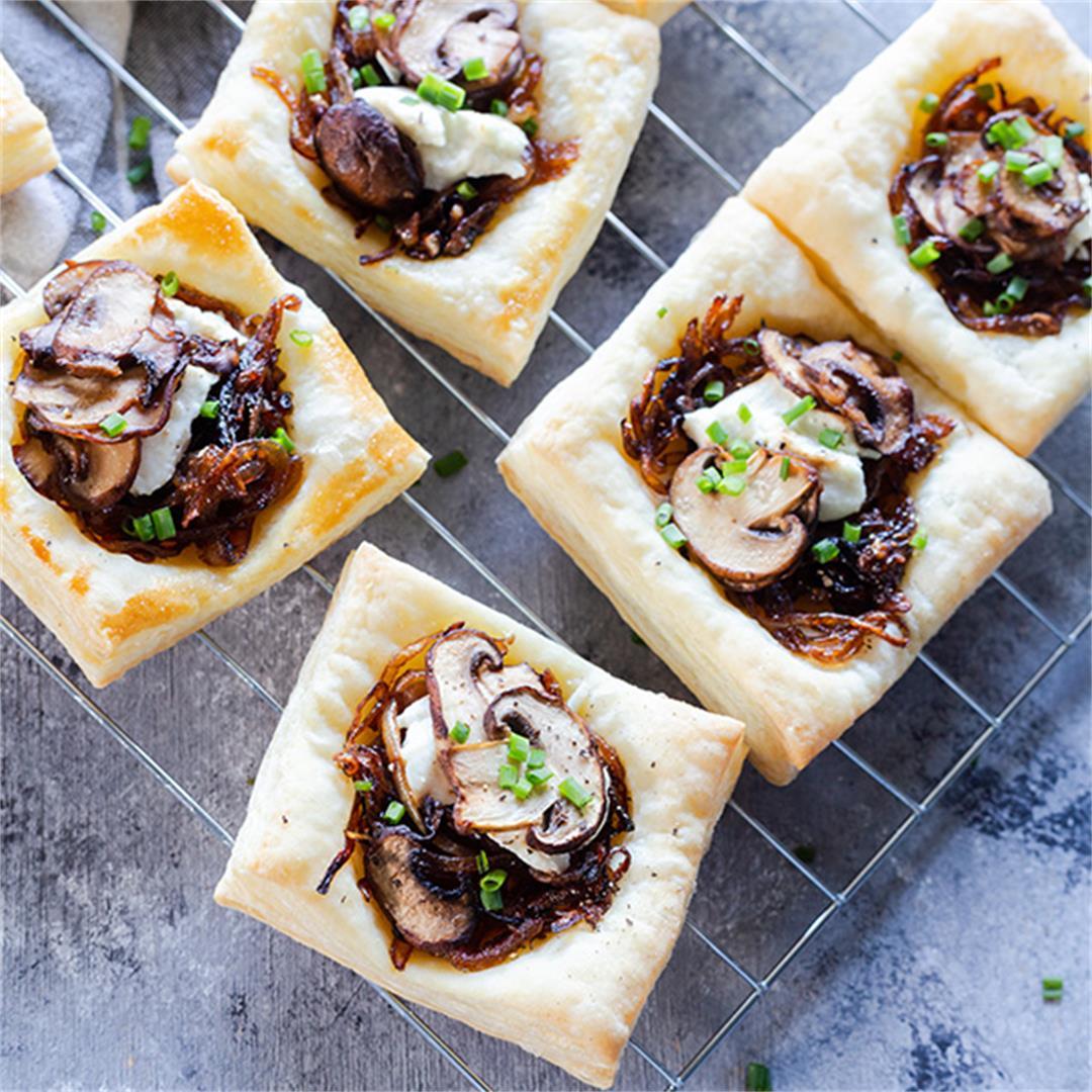 Mushroom Goat Cheese Tart