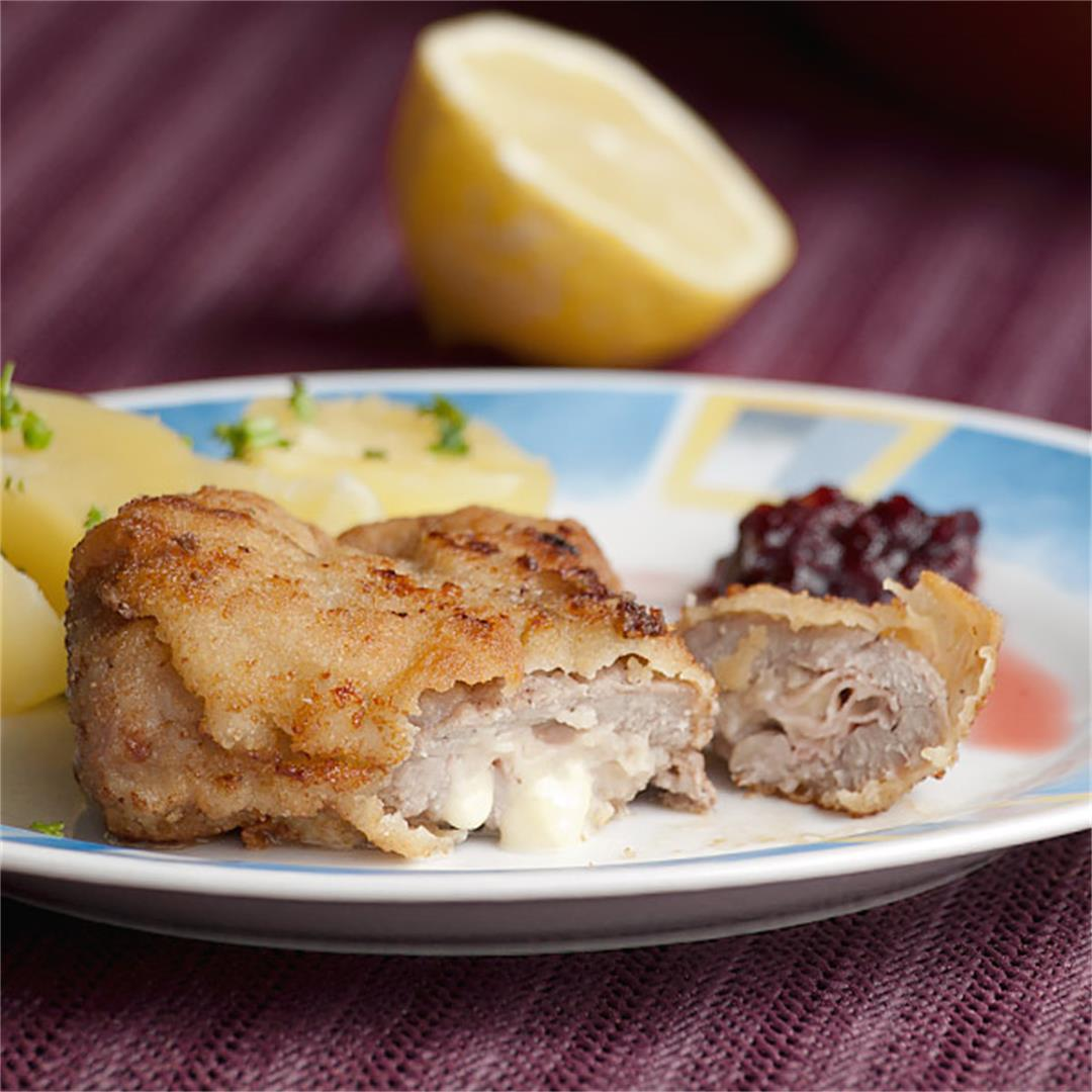 This is a quick and yummy veal cordon bleu made in under 30 min