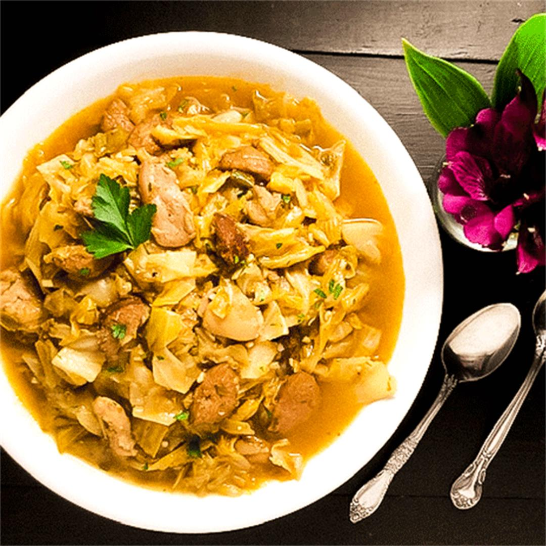 Cajun Smothered Cabbage With Chicken & Sausage