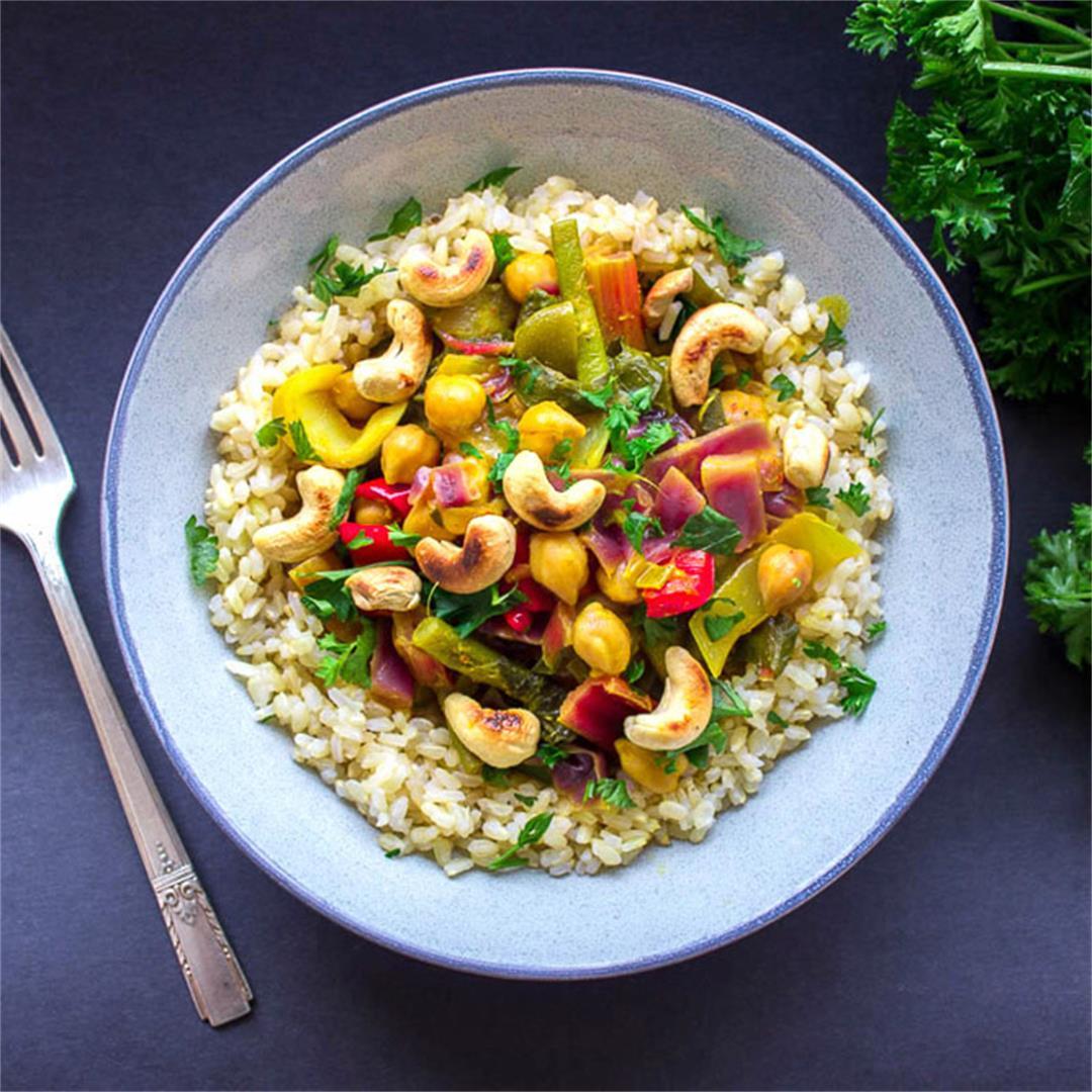 Vibrant Thai Yellow Curry (vegan + gluten-free)