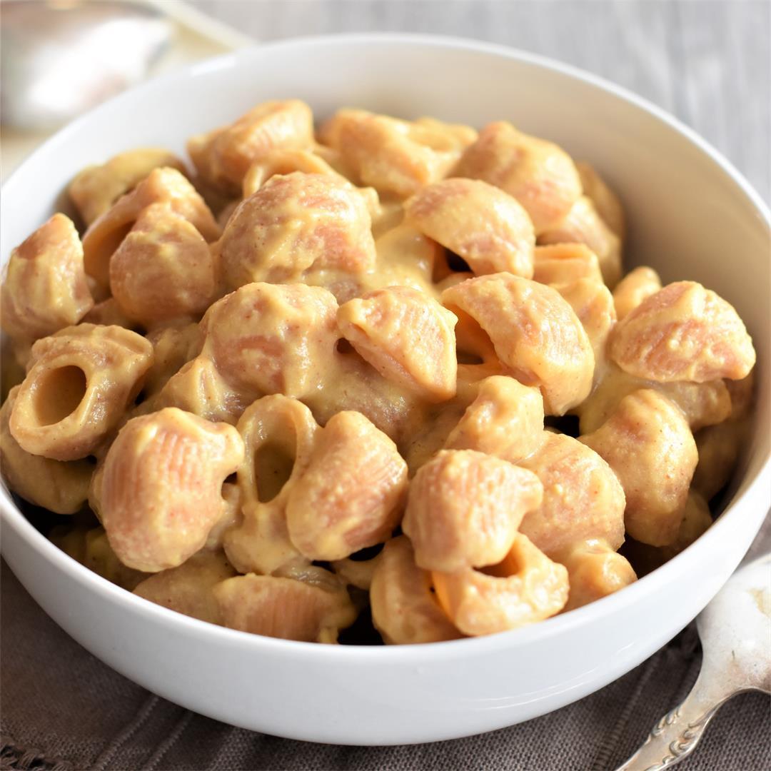Stovetop Gluten-Free, Vegan Mac & Cheese [Nut-Free]