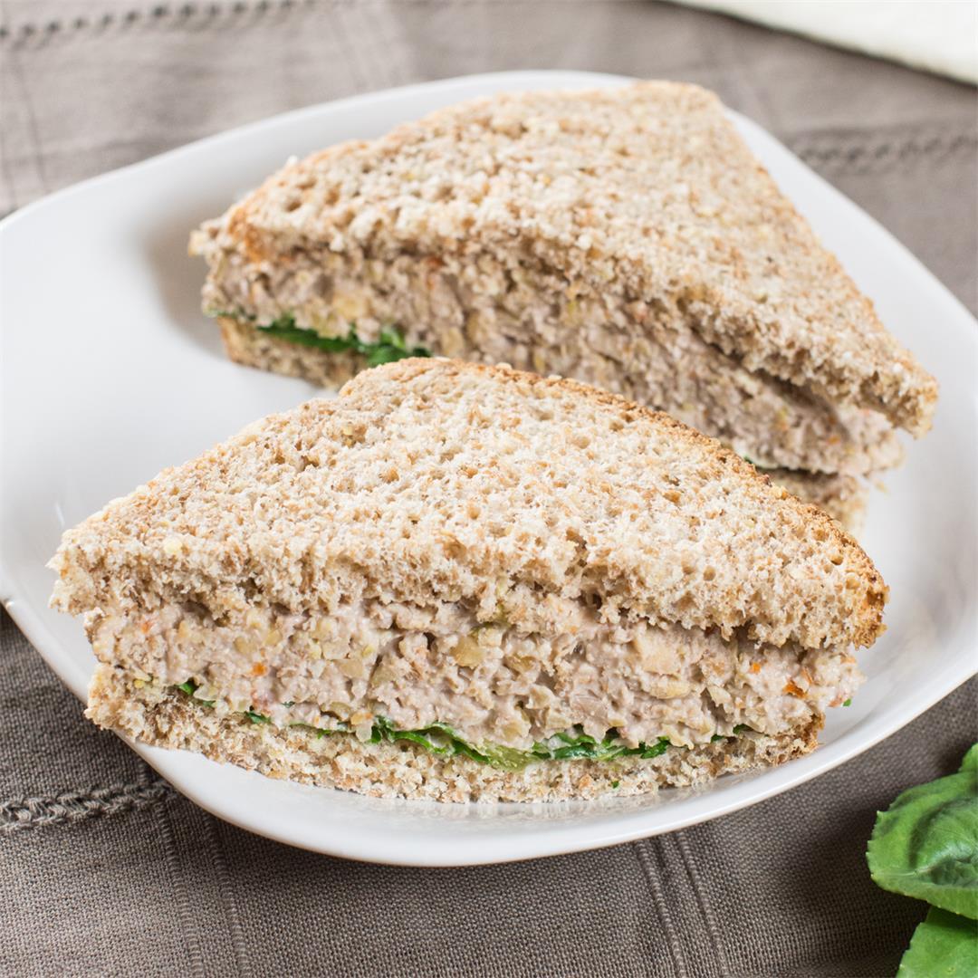 Chickpea Salad w/Olives & Walnuts [Vegan, GF]
