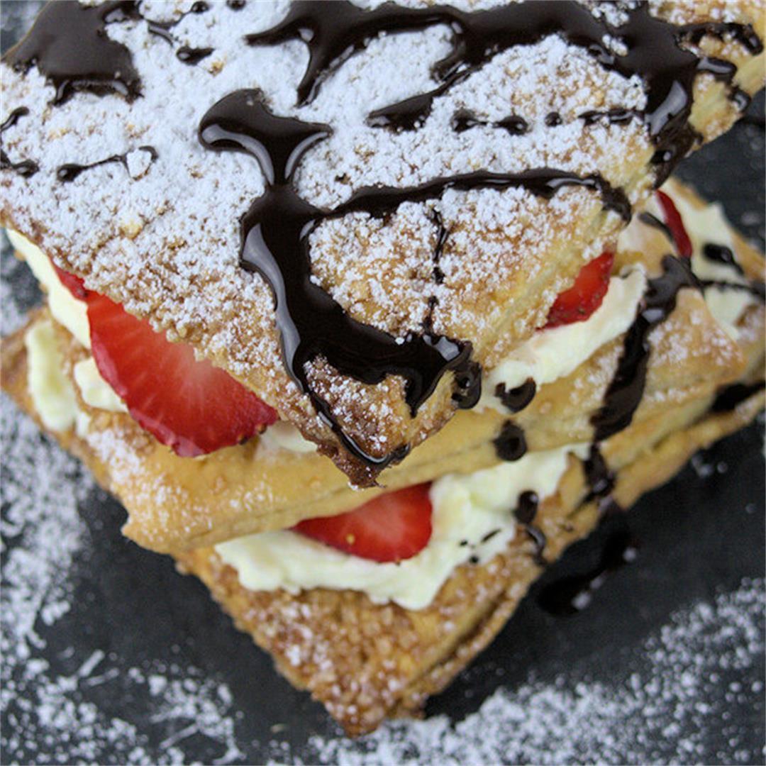 Feuilletee with Strawberries & Mascarpone Cream