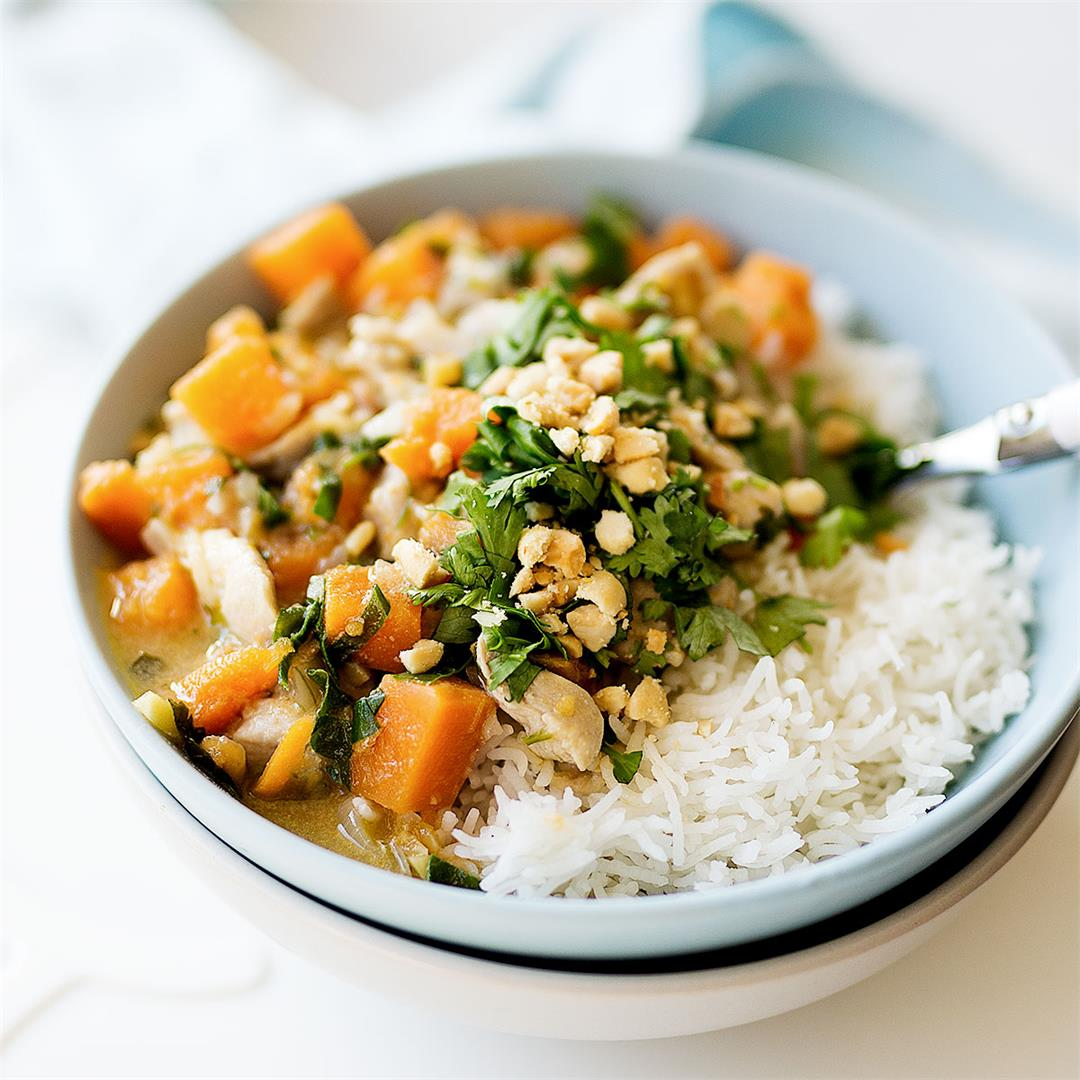 Coconut Chicken and Sweet Potato