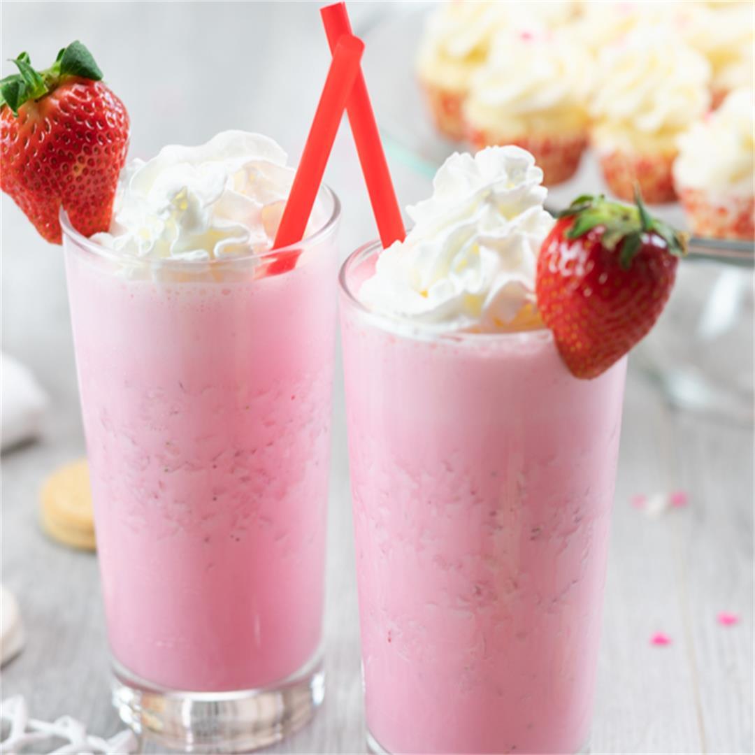 Strawberry Ice Cream Milkshake