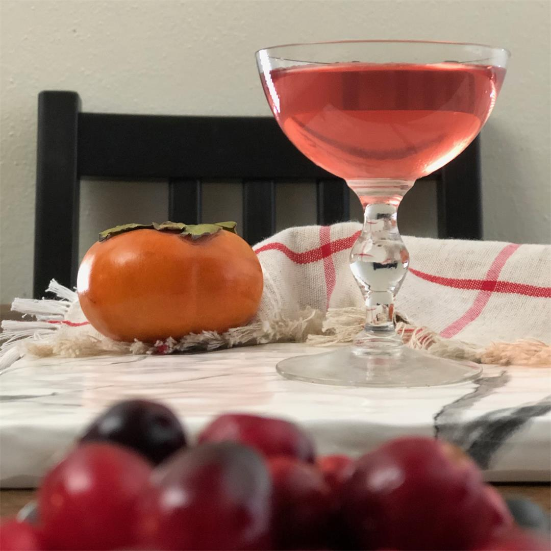 This tasty liqueur pairs persimmons and cranberries in tequila.