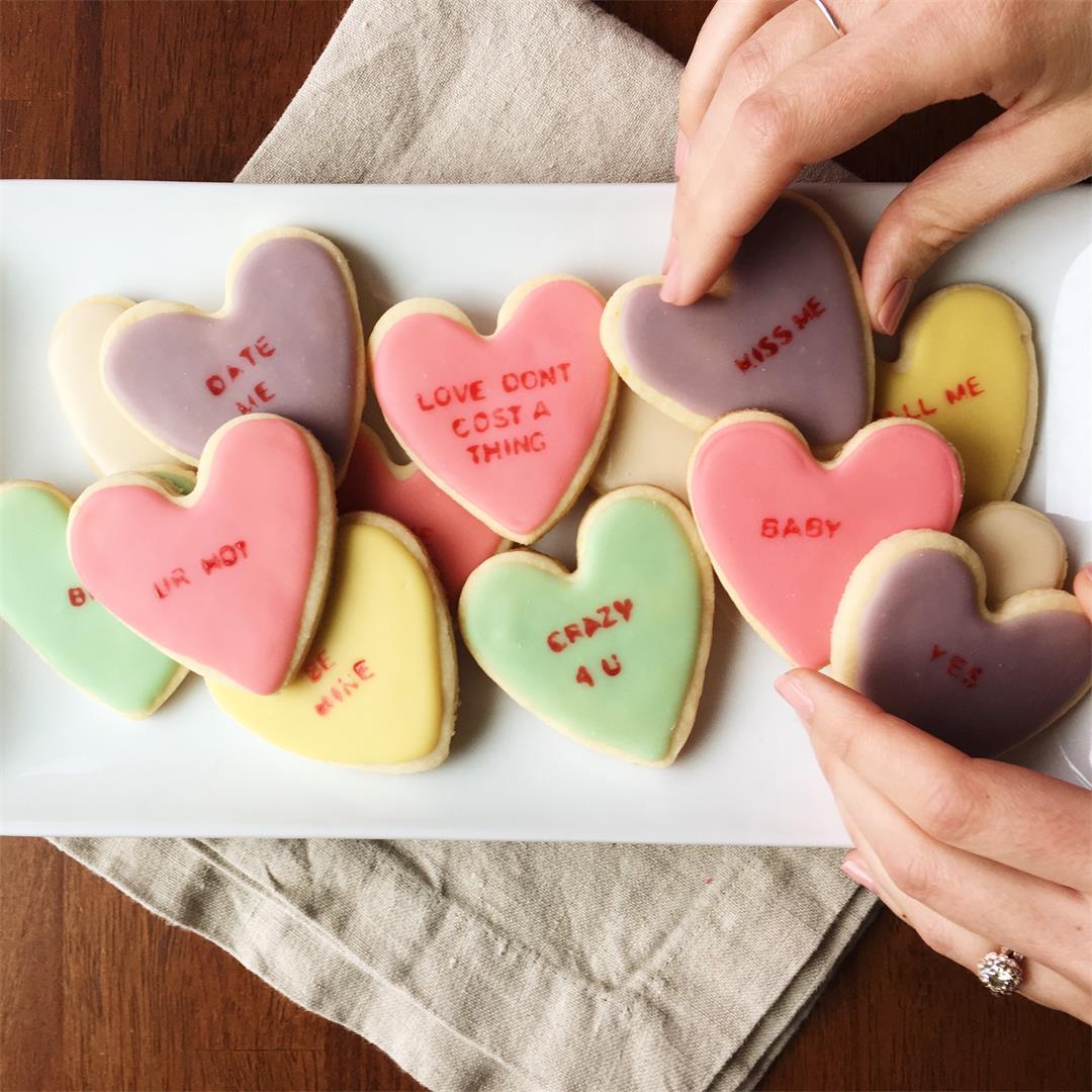 Conversation Heart Cookies!