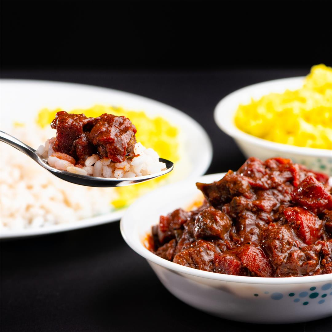 Beef and Beetroot curry, Beef with Beetroot