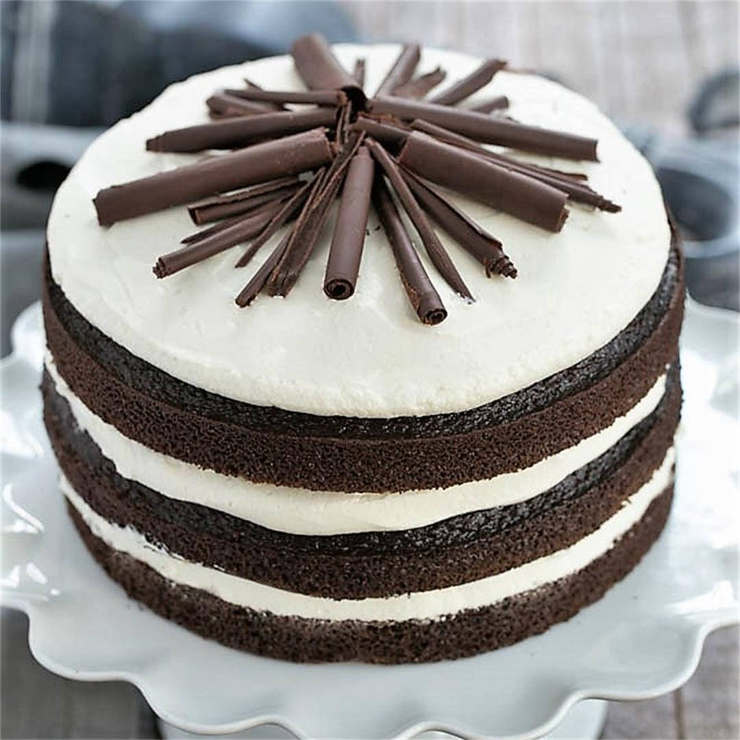 Triple Layer Chocolate Cake with Whipped Cream Cheese Frosting