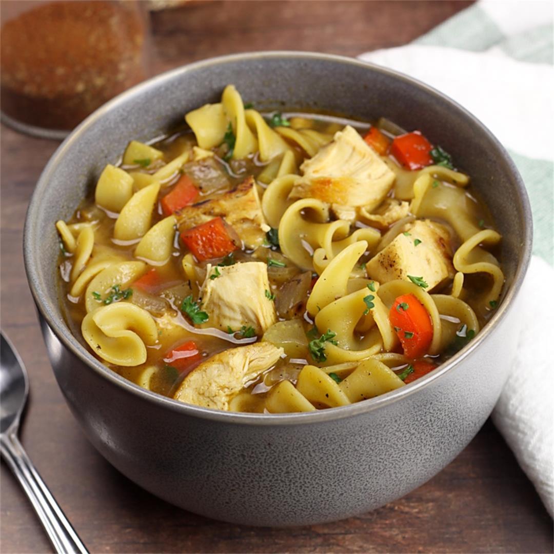 Cajun Chicken Noodle Soup