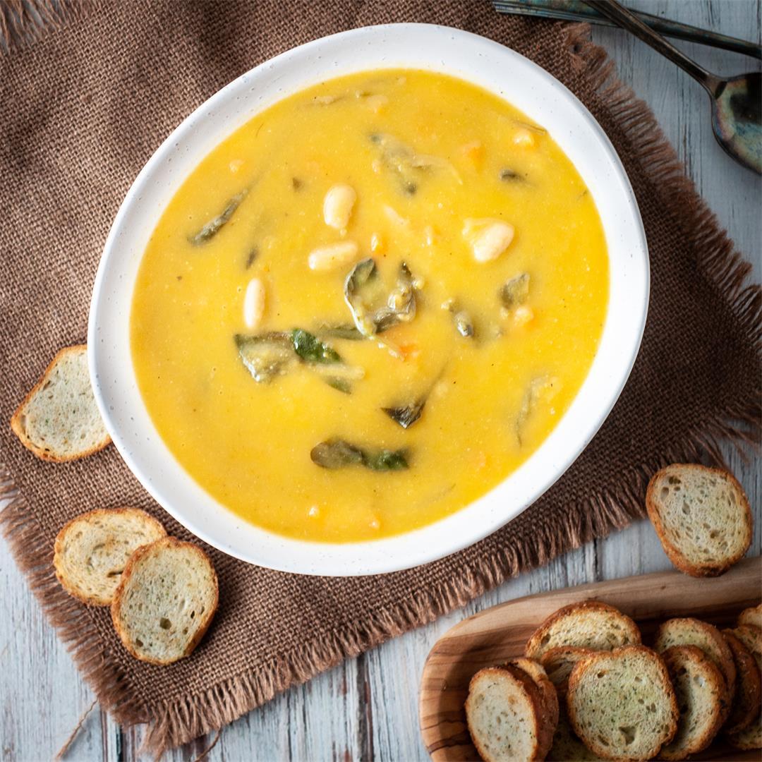 Portuguese style vegetable soup (sopa de legumes)