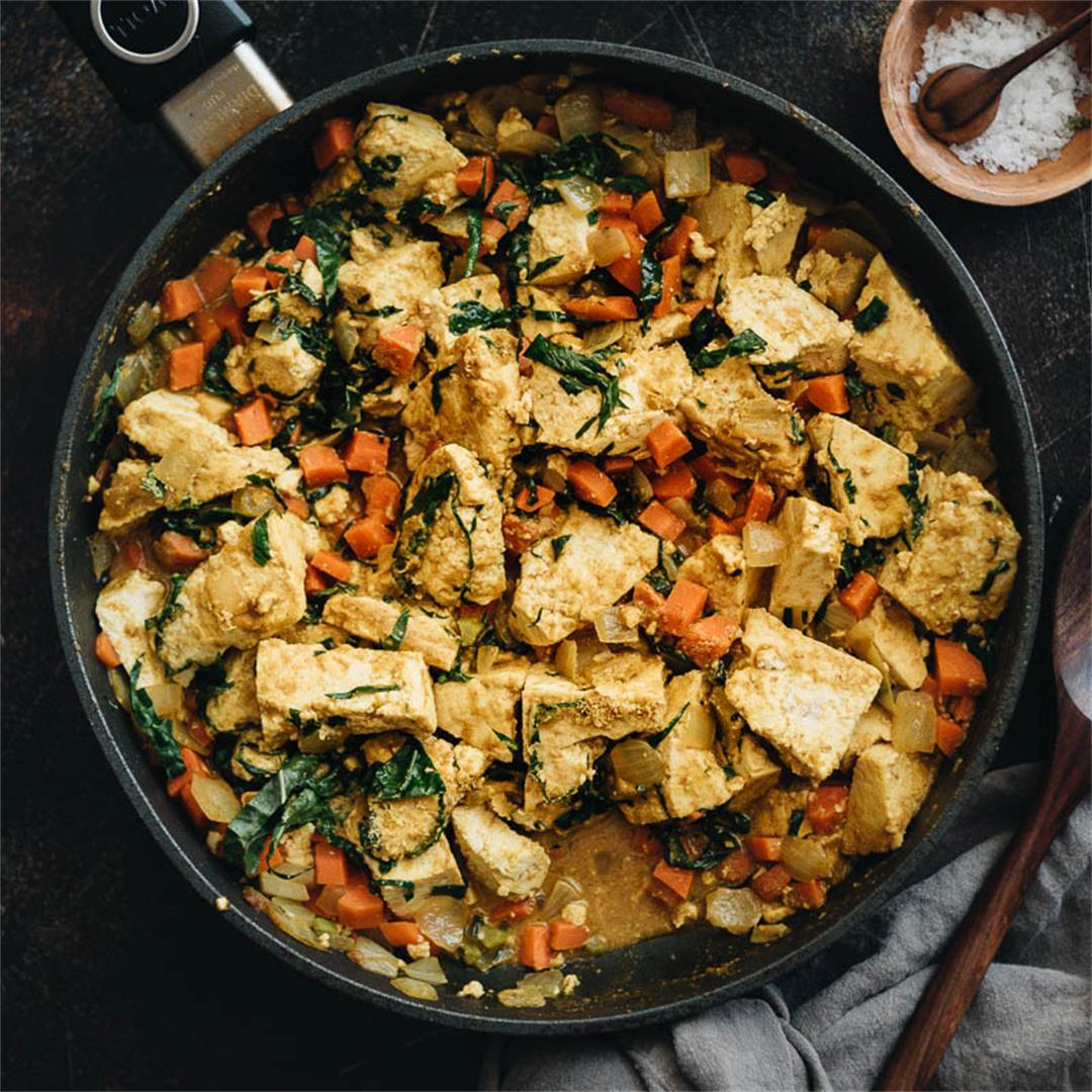 Curry Tofu Scramble