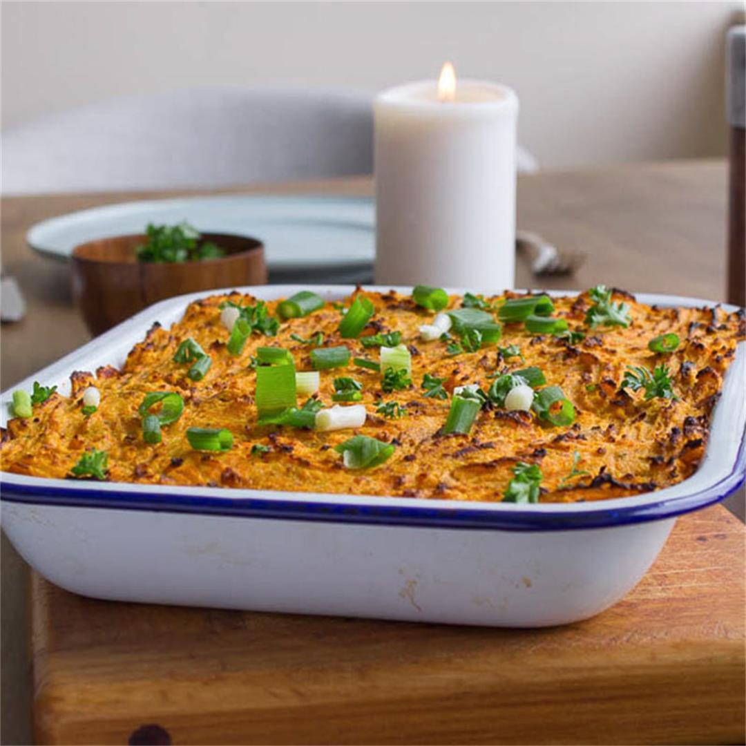 Vegan Shepherd's Pie with Yam Mash (gluten-free)