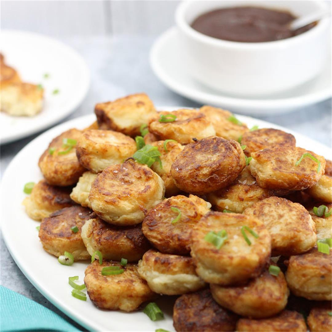 Potato Puffs with Apple Butter