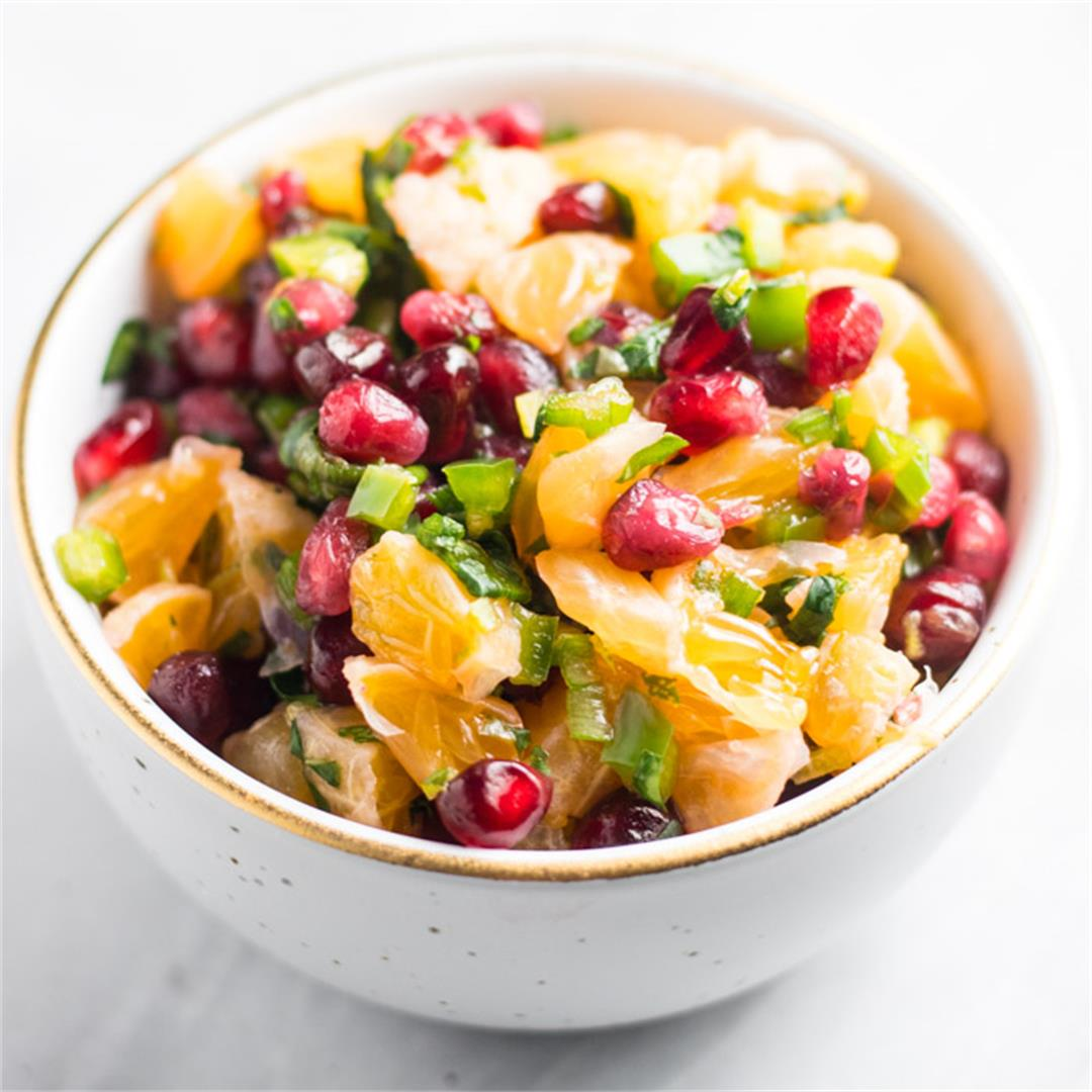 Low FODMAP Pomegranate Orange Salsa