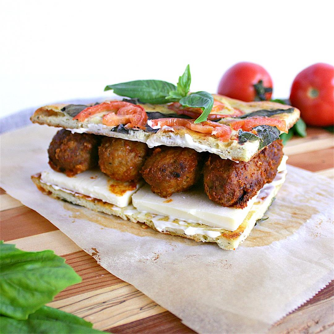 Low Carb BBQ Meatball Panini