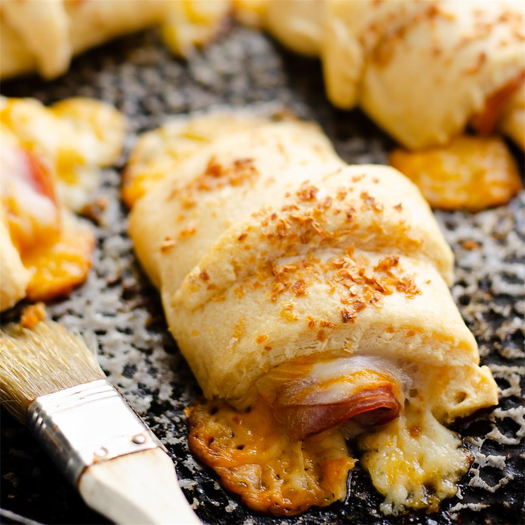 Hot Ham and Cheese Roll Ups